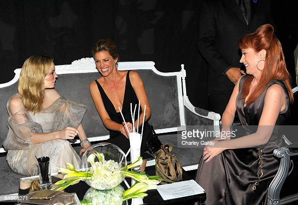 Actresses Melissa George Tricia Helfer and Kathy Griffin backstage during the 11th annual Costume Designers Guild Awards held at the Four Seasons...