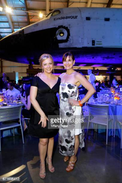 Actresses Melissa Joan Hart and Kellie Martin attends Lupus LA's Orange Ball Rocket to a Cure at the California Science Center on April 22 2017 in...