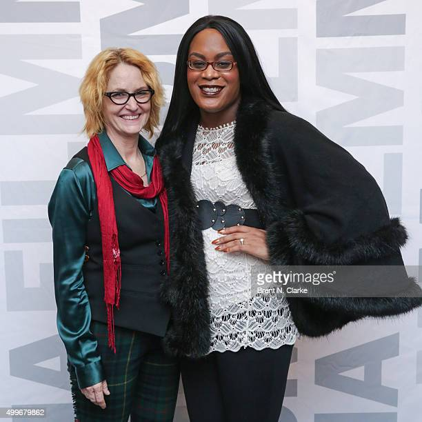 Actresses Melissa Leo and Mya Taylor attend the Tangerine New York special screening held at the MoMA Titus One on December 2 2015 in New York City