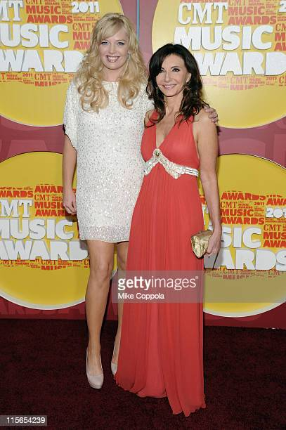 Actresses Melissa Peterman and Mary Steenburgen attend the 2011 CMT Music Awards at the Bridgestone Arena on June 8 2011 in Nashville Tennessee