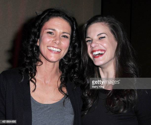 Actresses Melissa Ponzio and Haley Webb attend the 20th Century Fox Home Entertainment and MTV Network Teen Wolf fan appreciation event on November...