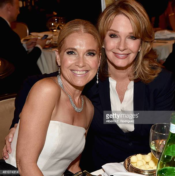 Actresses Melissa Reeves and Deidre Hall attend The 41st Annual Daytime Emmy Awards at The Beverly Hilton Hotel on June 22 2014 in Beverly Hills...