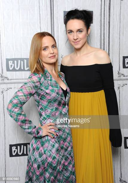 Actresses Mena Suvari and Lena Hall visit Build Series to discuss the film 'Becks' at Build Studio on February 5 2018 in New York City