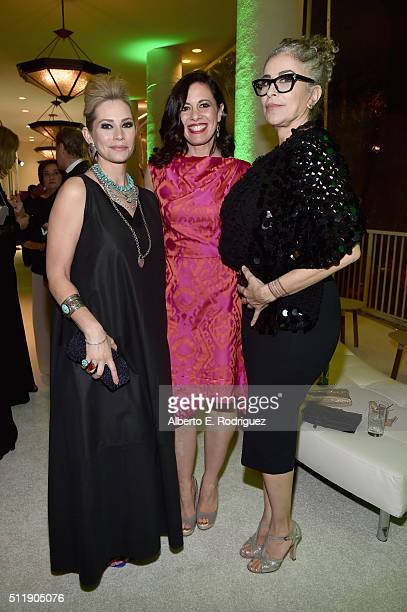 Actresses Meredith Monroe Jacqueline Mazarella and Roma Maffia attend the 18th Costume Designers Guild Awards with Presenting Sponsor LACOSTE at The...