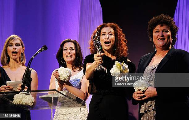 Actresses Meredith Monroe, Jacqueline Mazarella, Roma Maffia and actress Dot Marie Jones onstage during the 14th Annual Costume Designers Guild...