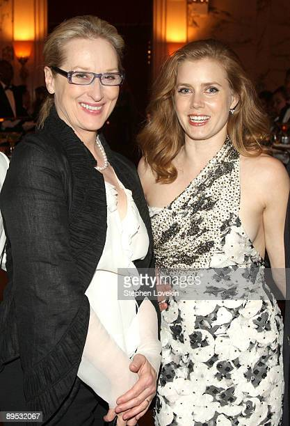 Actresses Meryl Streep and Amy Adams attend the Julie Julia premiere after party at Metropolitan Club on July 30 2009 in New York City