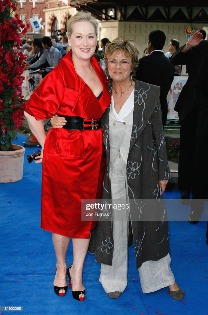 Actresses Meryl Streep and Julie Walters attends the Mamma Mia! The Movie world premiere held at the Odeon Leicester Square on June 30, 2008 in London, England.