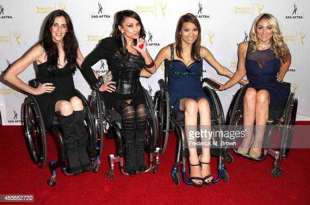 Actresses Mia Schaikewitz Auti Angel Angela Rockwood and Tiphany Adams attend the Television Academy and SAGAFTRA Presents Dynamic Diverse A 66th...