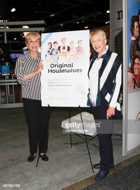 Actresses Michael Learned and Karen Grassle at The Cable Show on April 30 2014 in Los Angeles California