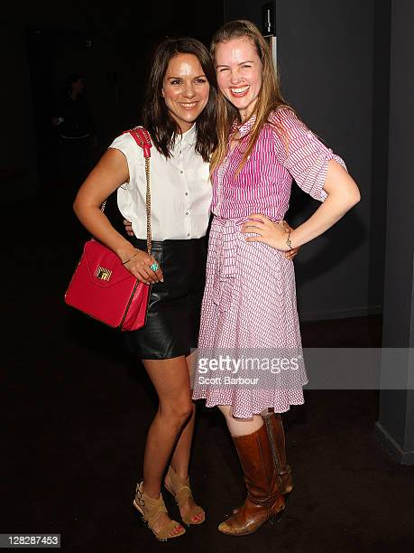 Actresses Michala Banas and Victoria Thaine arrive at the 'Surviving Georgia' premiere at The Classic Cinema on October 6 2011 in Melbourne Australia