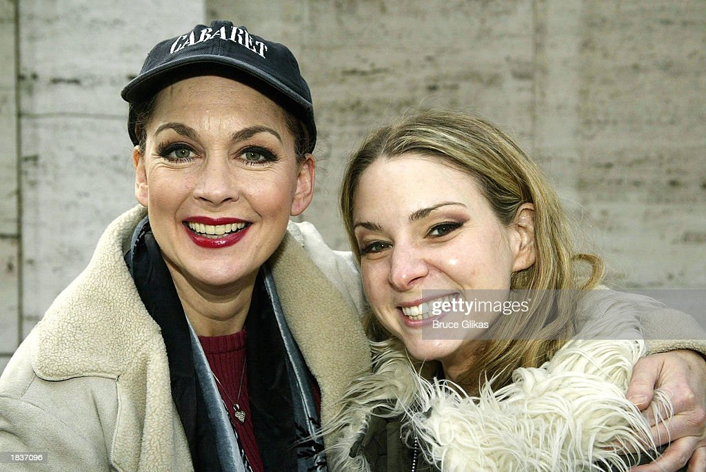Actresses Michele Pawk (L), who plays 'Countess Charlotte' and Jessica Boevers, who plays 'Petra' in the New York City Opera's production of Stephen Sondheim's 'A Little Night Music', poses after the opening weekend at The New York State Theater at the Lincoln Center on March 8, 2003 in New York City.