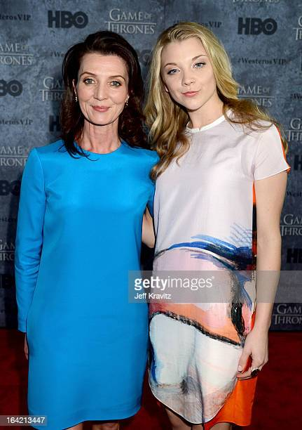 """Actresses Michelle Fairley and Natalie Dormer attend HBO's """"Game Of Thrones"""" Season 3 San Francisco Premiere on March 20, 2013 in San Francisco,..."""