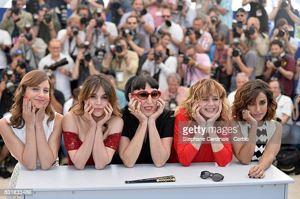 Actresses Michelle Jenner Adriana Ugarte Rossy de Palma Emma Suarez and Inma Cuesta attend the 'Julieta' photocall during the 69th annual Cannes Film...