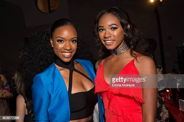 Actresses Michelle Mitchenor and Chandler Kinney attend the after party for the premiere Of Fox Network's 'Lethal Weapon' at NeueHouse Hollywood on...