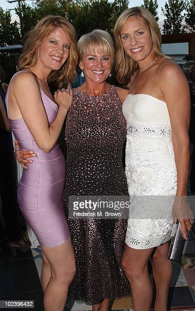 Actresses Michelle Stafford Judi Evans and Arianne Zucker attend the Daytime Emmy Nominees Reception hosted by the Academy of Television Arts and...