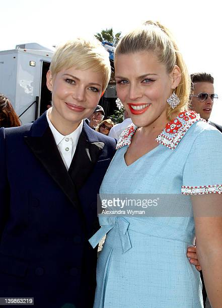 Actresses Michelle Williams and Busy Philipps with Nokia at the 2012 Film Independent Spirit Awards at Santa Monica Pier on February 25 2012 in Santa...