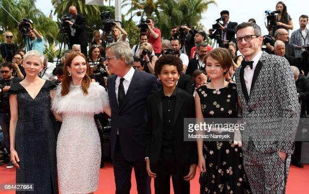 Actresses Michelle Williams Julianne Moore Director Todd Haynes actor Jaden Michael producer Pamela Koffler and Screenwriter Brian Selznick attend...