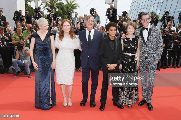 Actresses Michelle Williams Julianne Moore Director Todd Haynes actor Jaden Michael actress Millicent Simmonds and Screenwriter Brian Selznick attend...