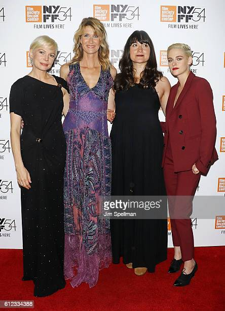 Actresses Michelle Williams Laura Dern Lily Gladstone and Kristen Stewart attend the 54th New York Film Festival 'Certain Women' premiere at Alice...