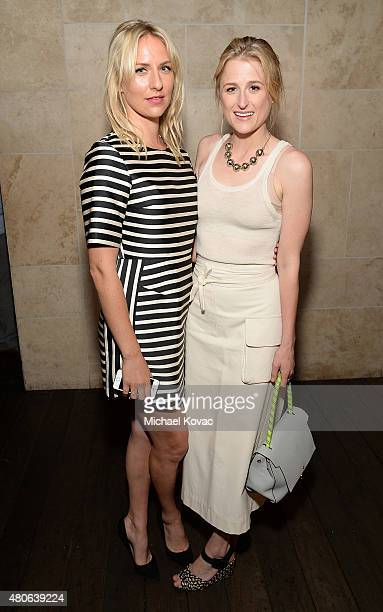 Actresses Mickey Sumner and Mamie Gummer attend the afterparty for the Los Angeles premiere of A24's The End Of The Tour at The WGA Theater on July...