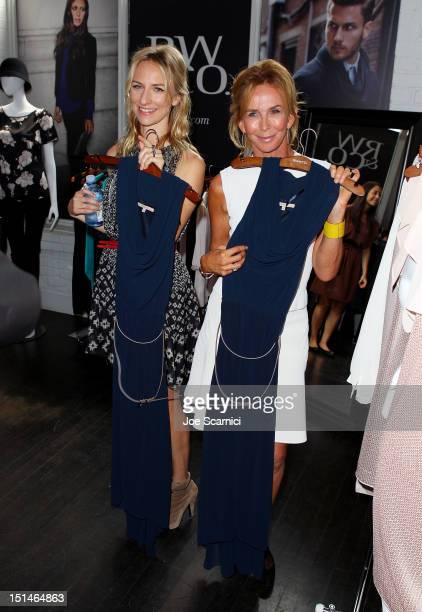 Actresses Mickey Sumner and Trudie Styler at the IT Lounge Portrait Studio Presenting Patrick Demarchelier Brought To You By RWCO during the 2012...
