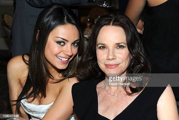 Actresses Mila Kunis and Barbara Hershey attend the Eleventh Annual AFI Awards reception at the Four Seasons Hotel on January 14 2011 in Los Angeles...