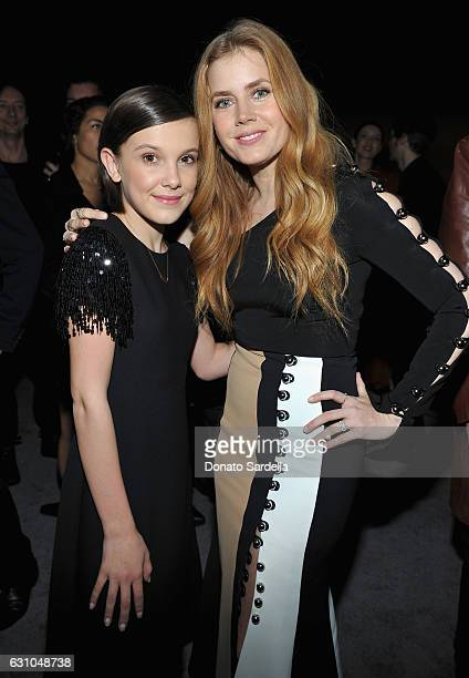 Actresses Millie Bobby Brown and Amy Adams attend W Magazine Celebrates the Best Performances Portfolio and the Golden Globes with Audi and Moet...