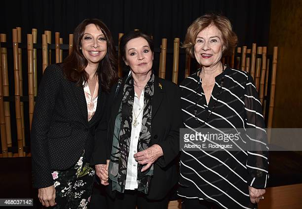 Actresses Millie Perkins Diane Baker and Illeana Douglas attend the screening of 'The Diary of Anne Frank' during day four of the 2015 TCM Classic...