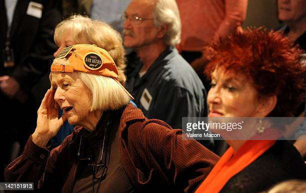 Actresses Mimi Cozzens and Marcia Wallace attend the Screen Actors Guild And American Federation Of Television And Radio Artists Merger Referendum...