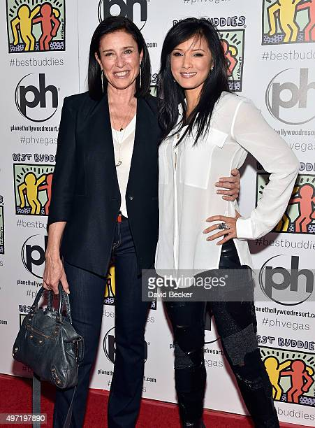 Actresses Mimi Rogers and Kelly Hu attends the All In for Best Buddies celebrity poker tournament at Planet Hollywood Resort Casino on November 14...