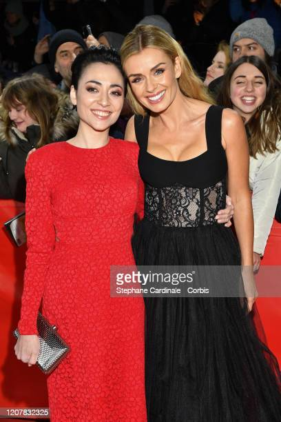 Actresses Minami and Katherine Jenkins pose at the Minamata premiere during the 70th Berlinale International Film Festival Berlin at...