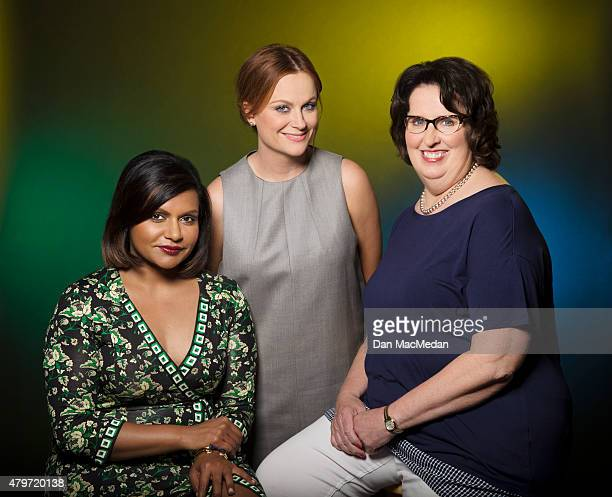 Actresses Mindy Kaling, Amy Poehler and Phyllis Smith are photographed for USA Today on June 7, 2015 in Beverly Hills, California. PUBLISHED IMAGE.
