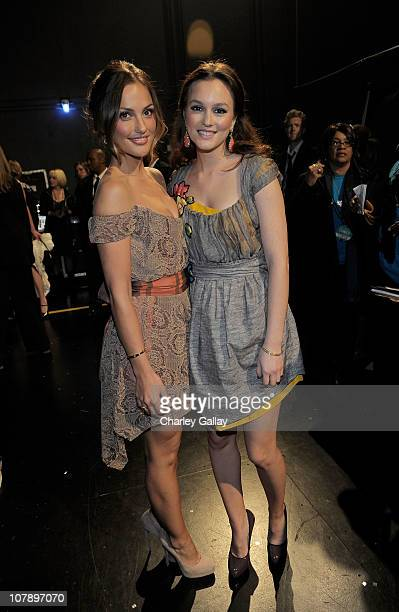 Actresses Minka Kelly and Leighton Meester attend the 2011 People's Choice Awards at Nokia Theatre LA Live on January 5 2011 in Los Angeles California