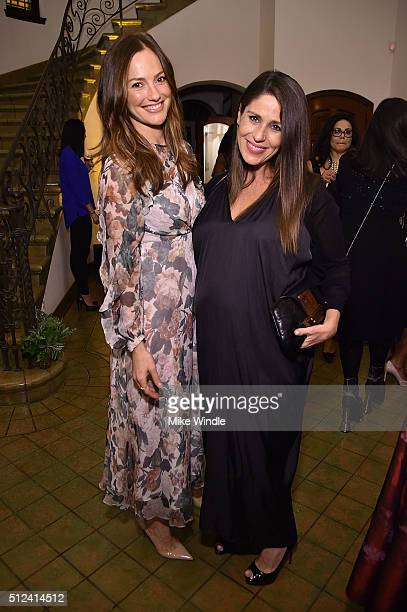 Actresses Minka Kelly and Soleil Moon Frye attend The Dinner For Equality cohosted by Patricia Arquette and Marc Benioff on February 25 2016 in...