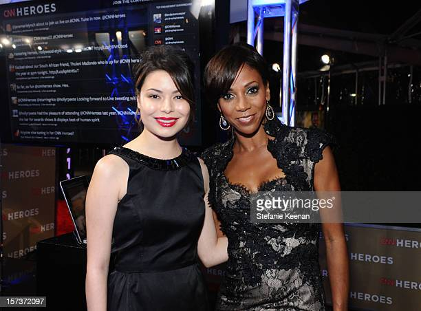 Actresses Miranda Cosgrove and Holly Robinson Peete attend the CNN Heroes An All Star Tribute at The Shrine Auditorium on December 2 2012 in Los...