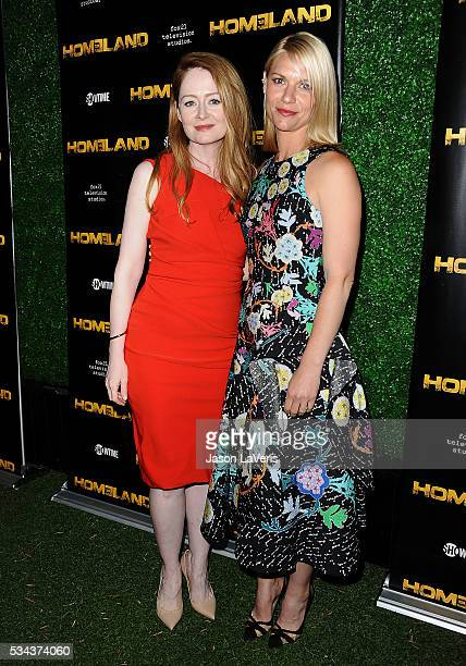 Actresses Miranda Otto and Claire Danes attend the Homeland Emmy FYC event at Zanuck Theater at 20th Century Fox Lot on May 25 2016 in Los Angeles...