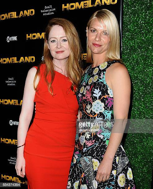 Actresses Miranda Otto and Claire Danes attend the 'Homeland' Emmy FYC event at Zanuck Theater at 20th Century Fox Lot on May 25 2016 in Los Angeles...