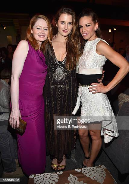 Actresses Miranda Otto Grace Gummer and Hilary Swank attend the after party for 'The Homesman' during AFI FEST 2014 Presented By Audi at the...