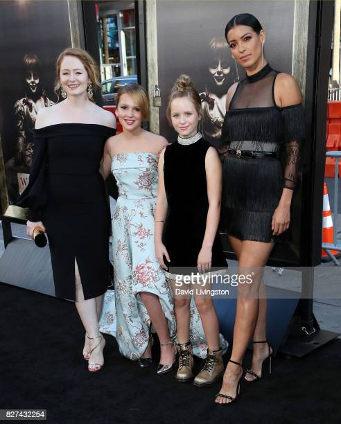 Actresses Miranda Otto Talitha Bateman Lulu Wilson and Stephanie Sigman attend the premiere of New Line Cinema's 'Annabelle Creation' at TCL Chinese...