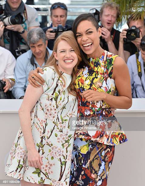 Actresses Mireille Enos Rosario Dawson attends 'Captives' photocall at the 67th Annual Cannes Film Festival>> on May 16 2014 in Cannes France
