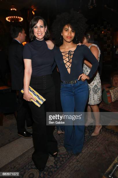 Actresses Miriam Shor and Zazie Beetz attend the Gersh Upfronts Party at The Jane Hotel on May 16 2017 in New York City