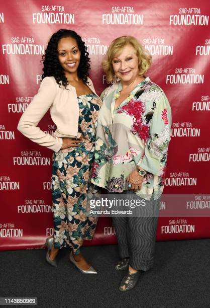 Actresses Mishael Morgan and Beth Maitland attend the SAGAFTRA Foundation Conversations with Emmy Nominated daytime drama actresses at the SAGAFTRA...