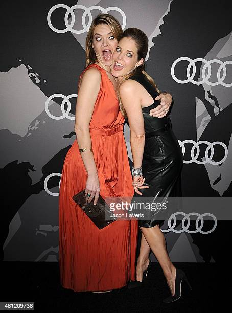 Actresses Missi Pyle and Christina Moore attend the Audi Golden Globe week celebration at Cecconi's Restaurant on January 8 2015 in Los Angeles...