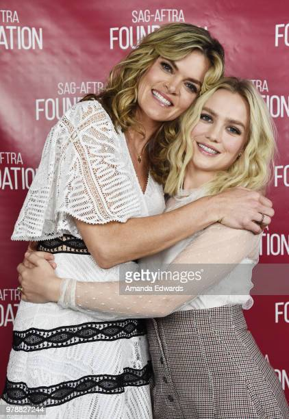 Actresses Maddie Hasson and Missi Pyle attend the SAGAFTRA Foundation Conversations screening of 'Impulse' at the SAGAFTRA Foundation Screening Room...
