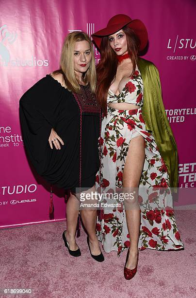 Actresses Moira Cue and Phoebe Price arrive at Storytellers United: The New Face of LGBTQ Youth in Entertainment at NeueHouse Hollywood on October...