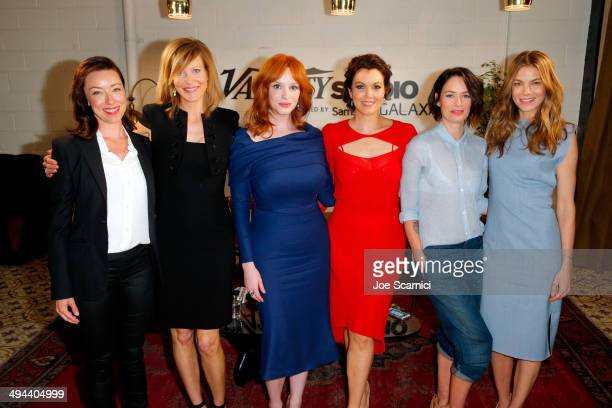 Actresses Molly Parker Anna Gunn Christina Hendricks Lena Headey Bellamy Young and Michelle Monaghan attend the Variety Studio powered by Samsung...