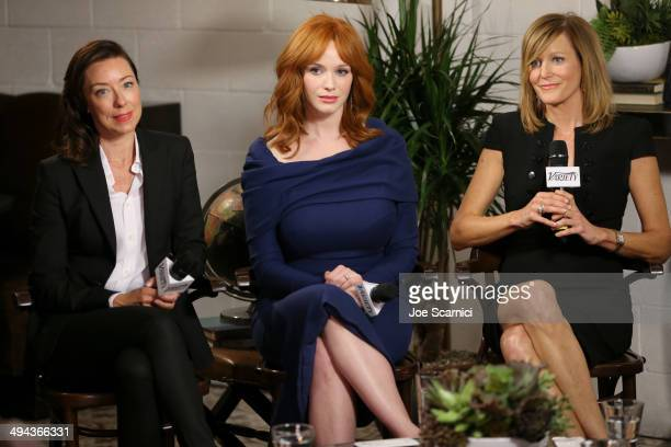 Actresses Molly Parker Christina Hendricks and Anna Gunn attend the Variety Studio powered by Samsung Galaxy at Palihouse on May 29 2014 in West...