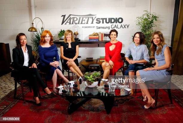 Actresses Molly Parker, Christina Hendricks, Anna Gunn, Bellamy Young, Lena Headey and Michelle Monaghan attend the Variety Studio powered by Samsung...