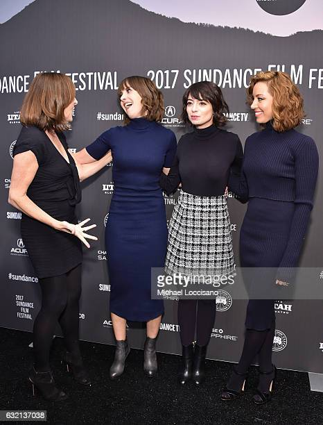 Actresses Molly Shannon Alison Brie Kate Micucci and Aubrey Plaza attend The Little Hours premiere during day 1 of the 2017 Sundance Film Festival at...