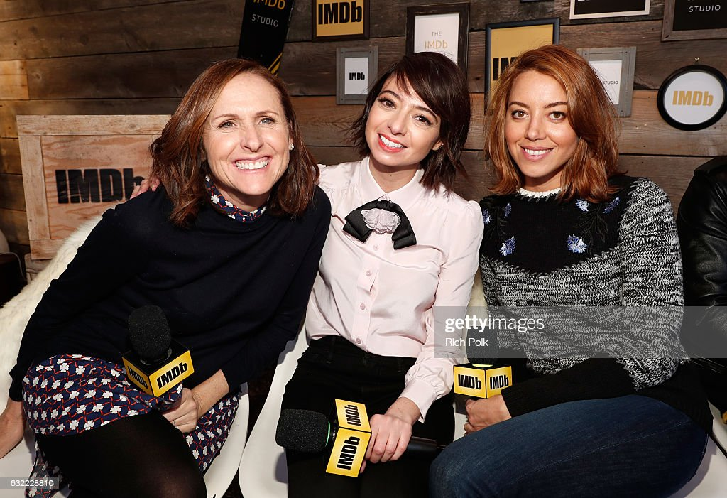 Actresses Molly Shannon, Kate Micucci and Aubrey Plaza of 'The Little Hours' attend The IMDb Studio featuring the Filmmaker Discovery Lounge, presented by Amazon Video Direct: Day One during The 2017 Sundance Film Festival on January 20, 2017 in Park City, Utah.